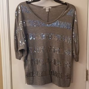 Kenneth Cole women's Size Large top sequins
